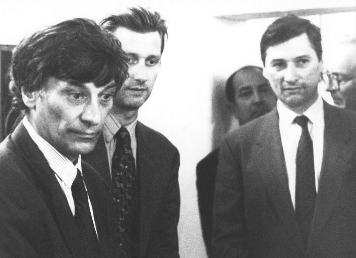 Jan Hoet (li.) auf der Documenta 1992 (c) Matthias Kampmann, 1992